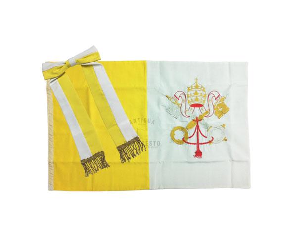 Bandera papal de ceremonia para jard n casa cesto for Banderas decorativas para jardin